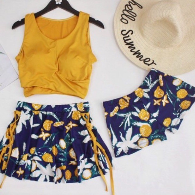 🍁 Bộ đồ bơi bikini 2 mảnh 3 chi tiết đi tắm biển nữ mùa hè