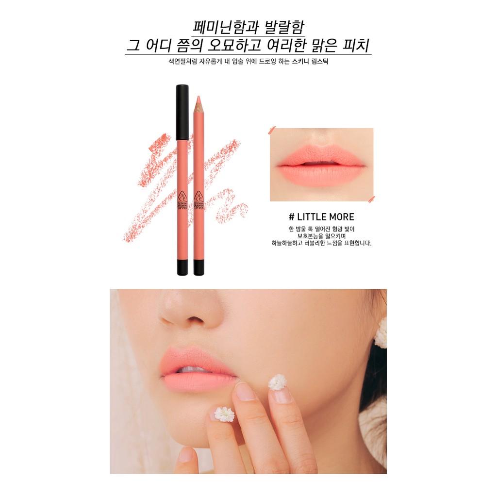 SALE 55% - Son bút chì #3CE Drawing Lip Pen - Hàn Quốc auth 100%