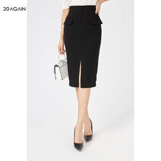 Chân váy bút chì cạp cao 20AGAIN, hàng thiết kế phong cách công sở thanh lịch, tôn dáng JBA1709 thumbnail