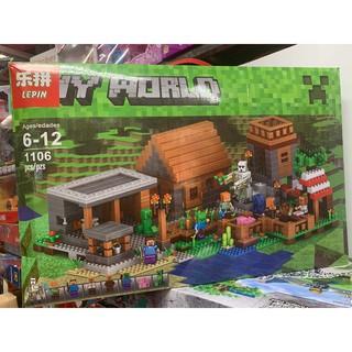 Đồ chơi xếp hình lắp ghép lego LEPIN MY WORLD 1106 chi tiết