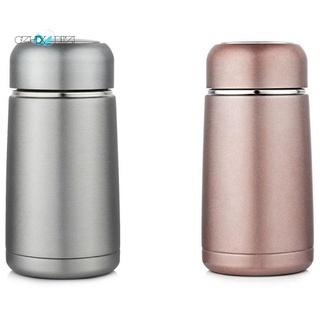 2Pcs 300Ml Vacuum Flasks Water Bottle Portable Drinkware Coffee Mug for Car – Pink & Sier