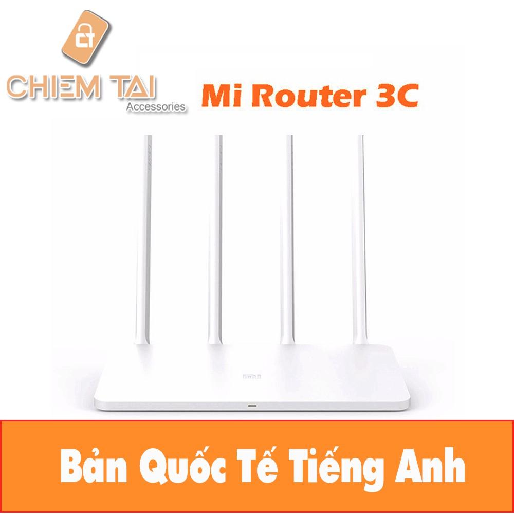Router Wifi Xiaomi 4 anten Gen 3C | Bộ Phát Wifi Xiaomi Router 3C - Phiên Bản Quốc Tế