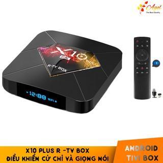 Android tivi box X10 Plus 4GB RAM có kèm điều khiển giọng nói tiếng Việt android 9.0 cài sẵn ứng dụng miễn phí