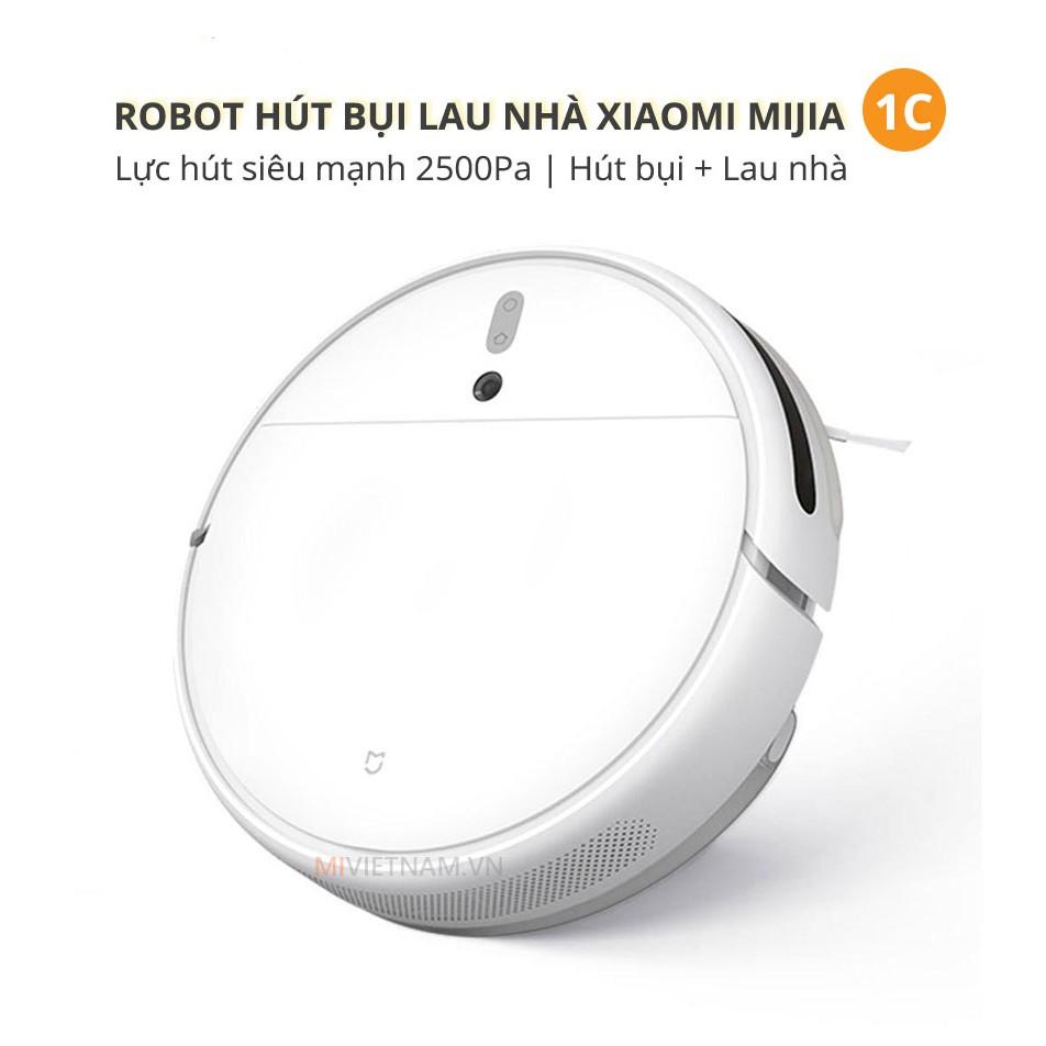 Robot Hút Bụi Lau Nhà Xiaomi Mijia Vaccum Mop 1C - Điều Khiển Qua App Mihome, Quốc Gia server Việt Nam