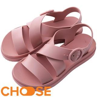 Giày Nữ Choose GIÁ RẺ Sandal CHỐNG NƯỚC Cao Su Quai Chéo