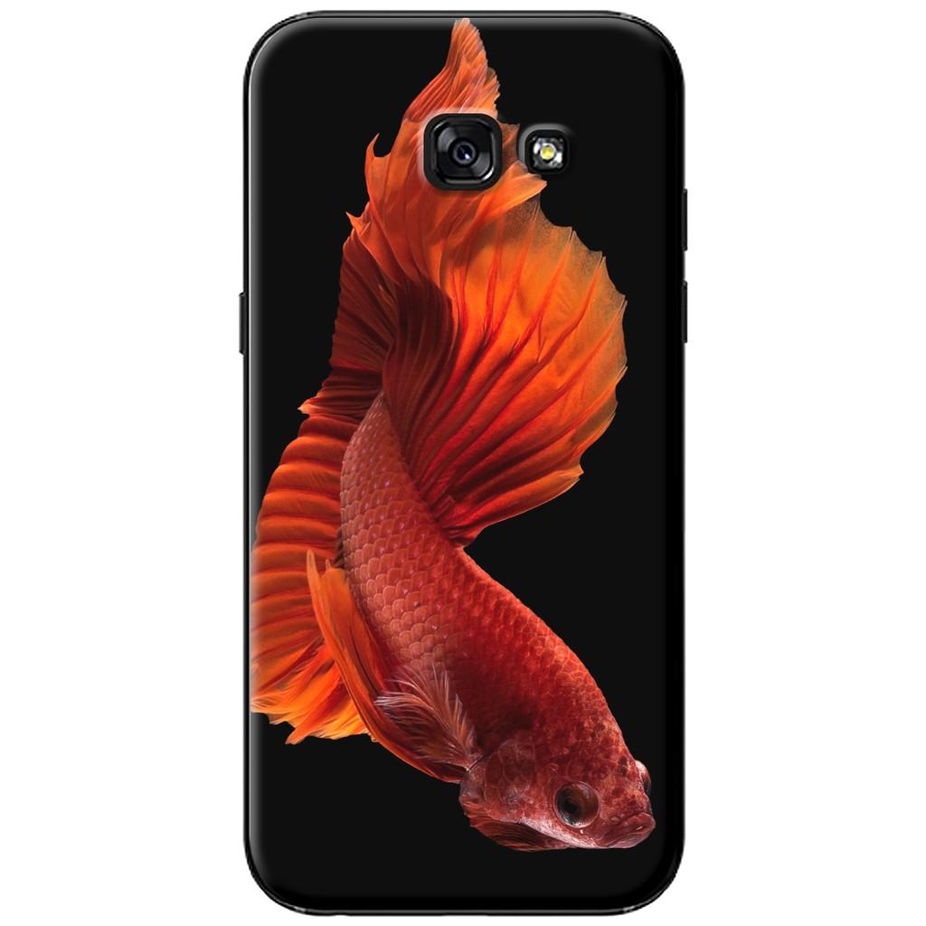 Ốp lưng Samsung A3/A5/A7 (2017) - nhựa dẻo Cá Betta đỏ
