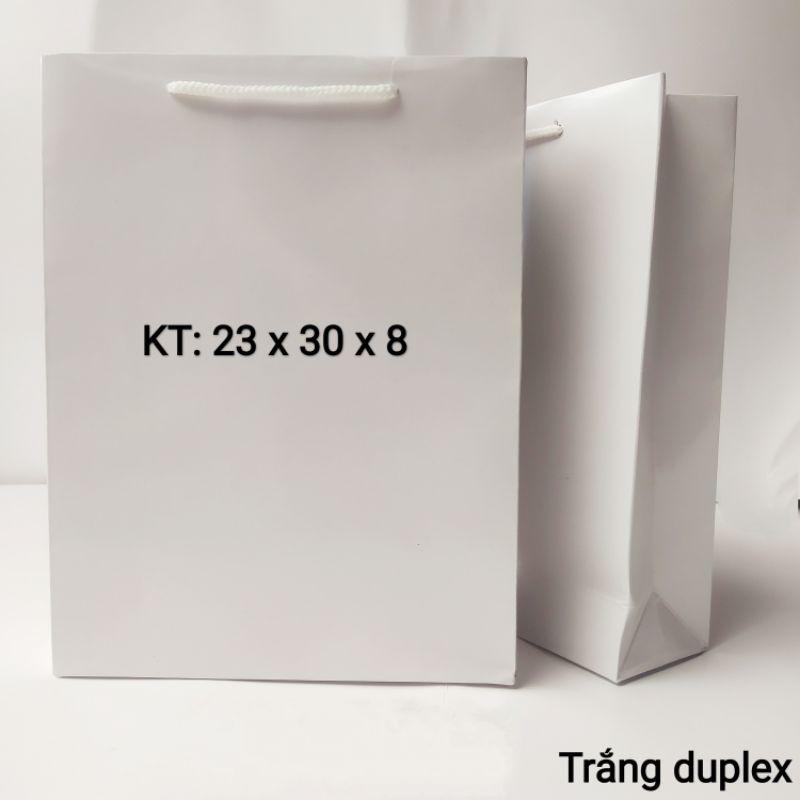 Túi giấy trắng số 4 Túi giấy đựng quà Túi quà tặng- túi đựng quà hình thật