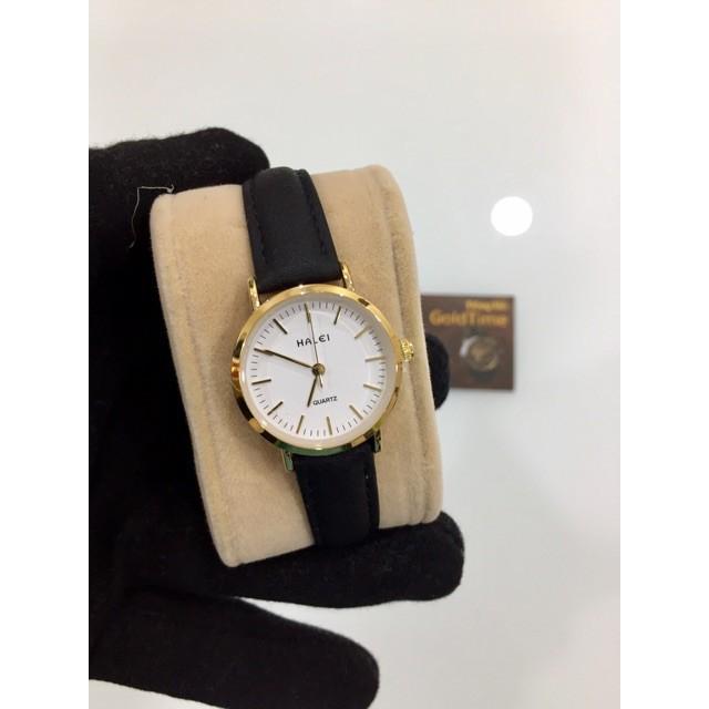 Đồng hồ Halei nữ mặt tròn chống nước + tặng pin dự phòng