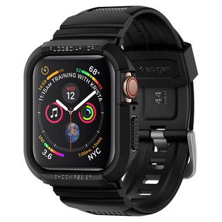 Ốp + dây đeo Apple Watch Series 4 / 5 / 6 (40 - 44mm) Spigen Rugged Armor Pro - Hàng chính hãng
