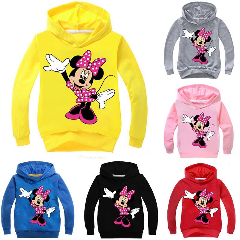 Áo hoodie in hình chuột Minnie dễ thương cho bé