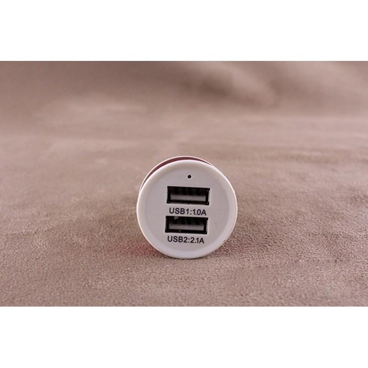 <CÓ HỘP>Đầu Sạc 2 Cổng USB Đa Chức Năng Trên Ô Tô 88155  SHOP MIẾN PHÍ VẬN CHUYỂN