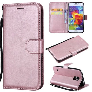 Cart Slot Phone Case For Oppo F5 F7 A73 Flip Pure Colour PU Leather Wallet Cover
