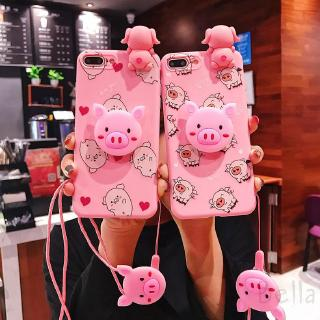 COD OPPO r9 plus r9s r11s r11 r17 a83 a57 a3 Love Pig Drink Pig Mobile Phone Shell Protective case 432