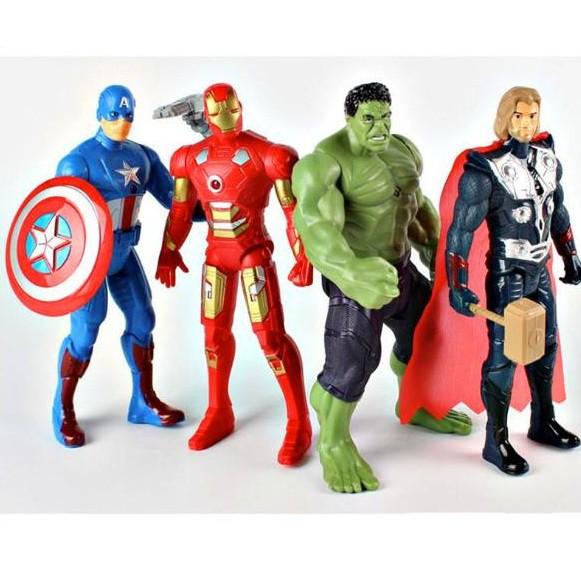 Bộ 4 Biệt Đội Siêu Anh Hùng Avenger (Hulk,Iron Man,Thor,Captain American)