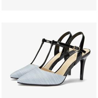 Giày Daphne Ondul chữ T màu xanh sẵn 34 đến 38 form to thumbnail