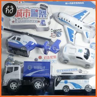Siêu rẻ ! Vỉ đồ chơi oto, bus, máy bay cảnh sát