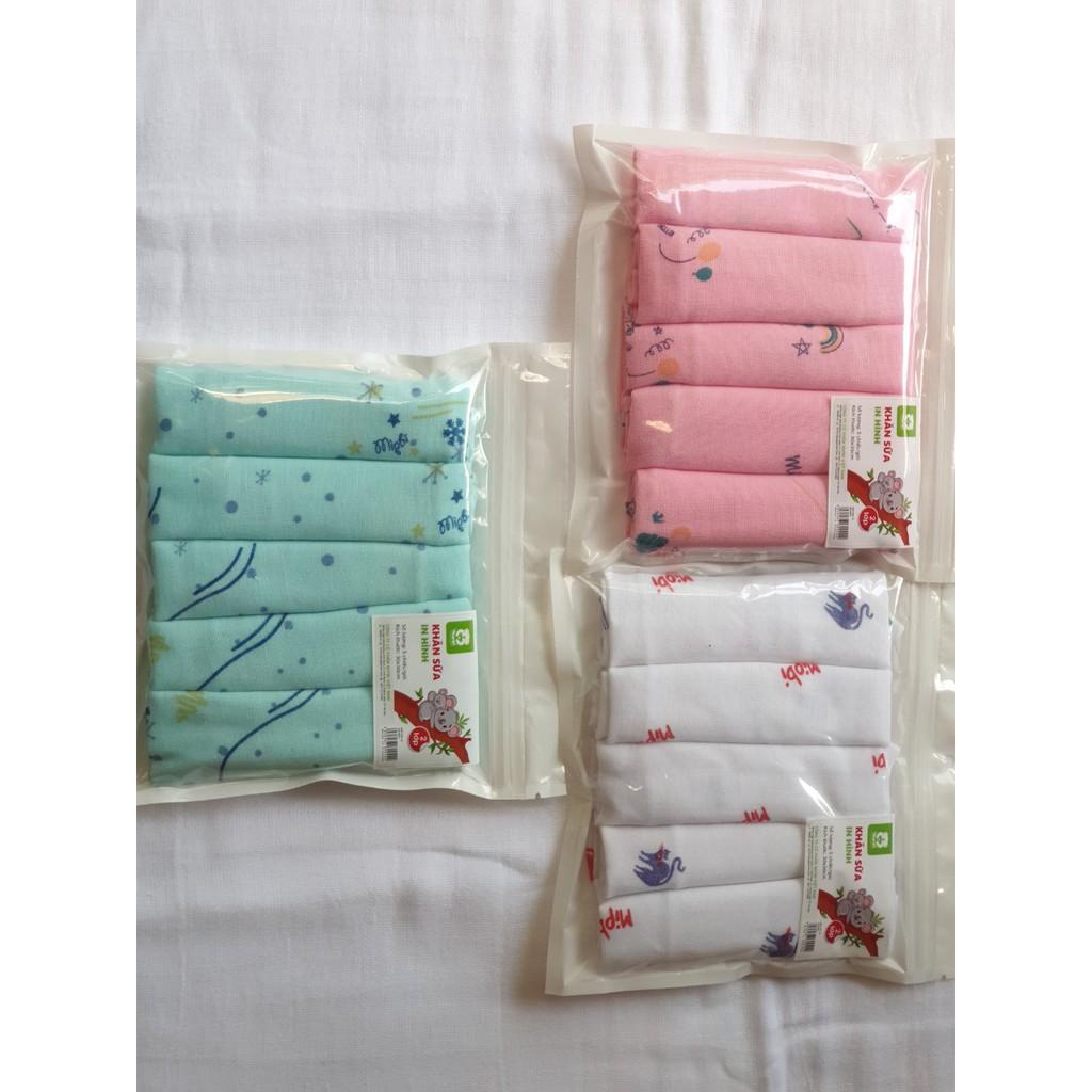 Sỉ - Sét 5 khăn xô sữa Mipbi in hình (KSH)