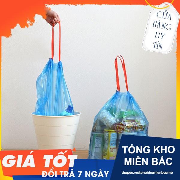 combo 180 túi rác có dây rút, túi đựng có quai tiện dụng freeship