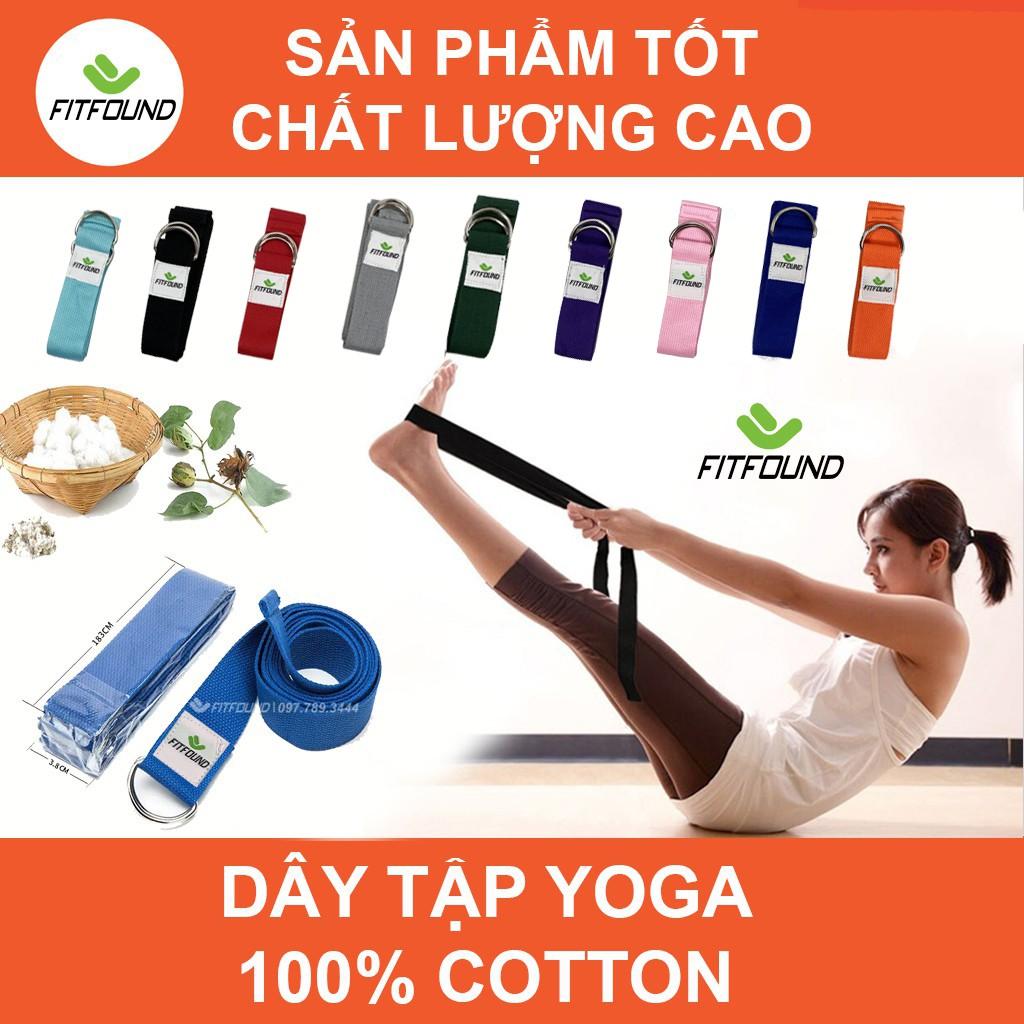 Dây tập yoga cotton dài 1,8m
