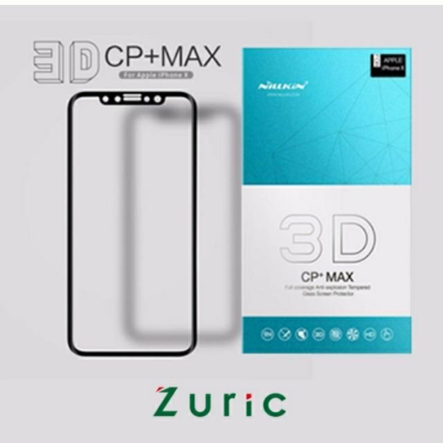 Kính Full 3D CP+MAX iPhone X