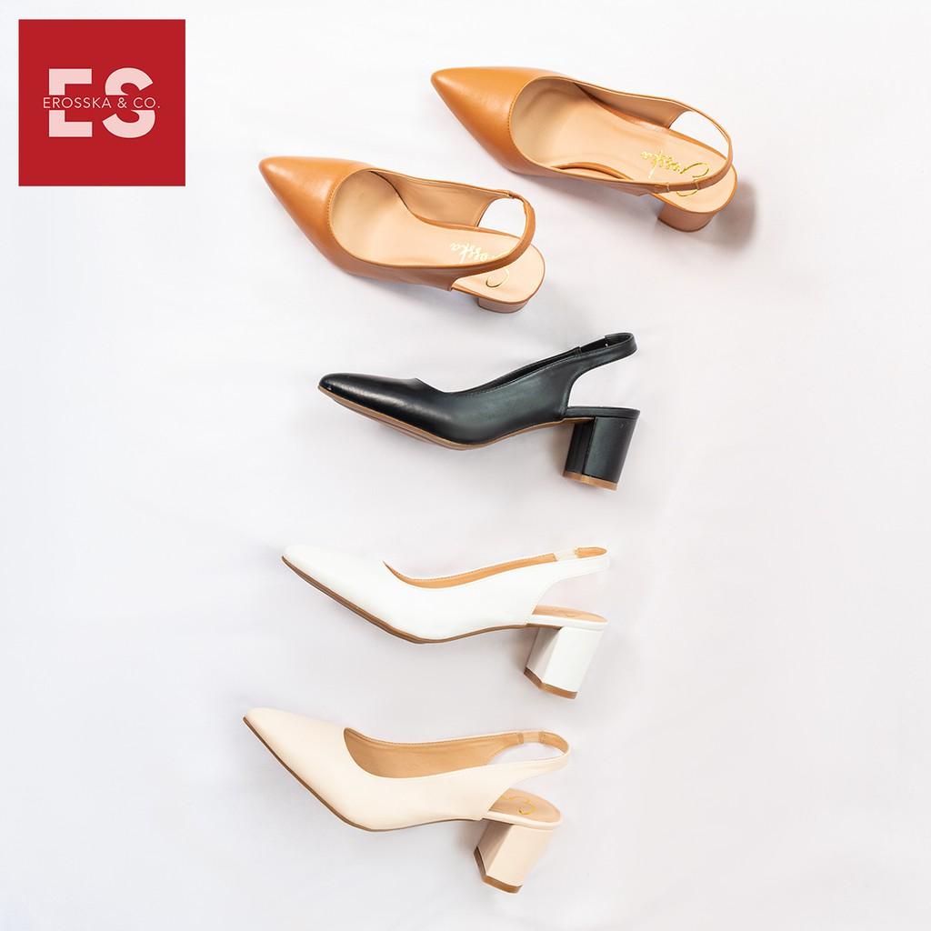 Giày cao gót thời trang nữ Erosska gót vuông 5cm - EH015 (màu nude)