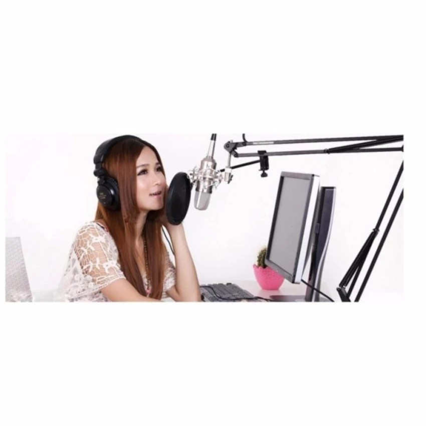 Micro mini hát karaoke, mic thu âm BM800 - phụ kiện đầy đủ