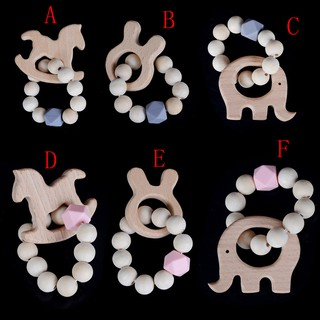 ☃SHL☃ Wooden Baby Bracelet Animal Shaped Jewelry Teething For Baby Accessories Toys [LT]