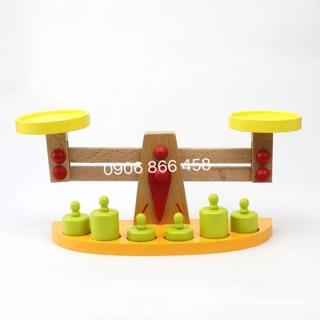 Cân đĩa thăng bằng | đồ chơi gỗ | hình thật