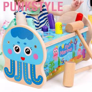 Punkstyle Kid Child Wooden Knock Hit Hamster Game Children Funny Early Educational Toy