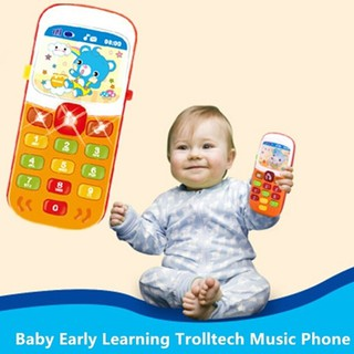 span-new craving 1pc kids cartoon electronic phone toy baby musical educational learning