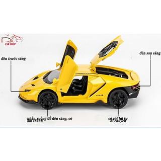 Xe mô hình hợp kim giá rẻ Lamborghini-Miniauto 770-4 vàng tỉ lệ 1:32