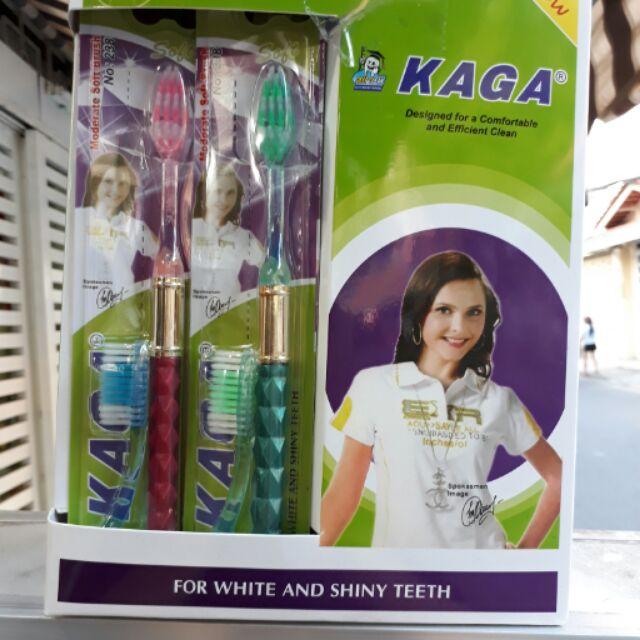 Bàn chải đánh răng Kaga 2 đầu