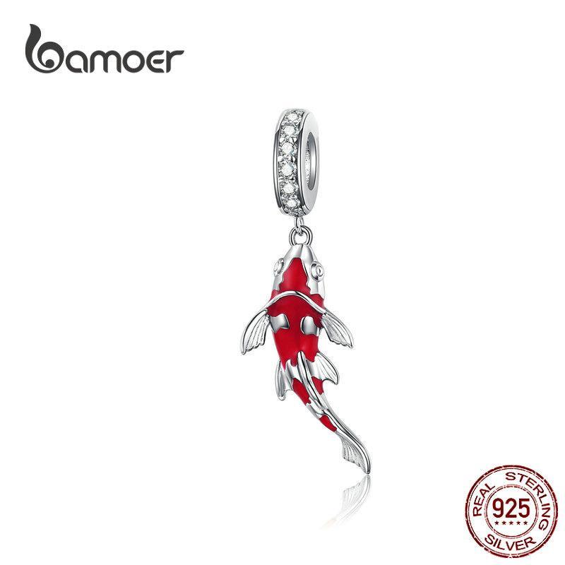 Hạt charm Bamoer hình cá đính đá đáng yêu cá tính