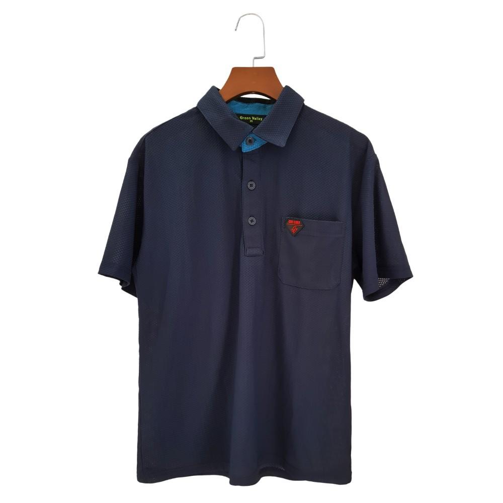 Áo thun nam ngắn tay có cổ Green Valley vải Golf hàng xuất khẩu- Áo thể thao