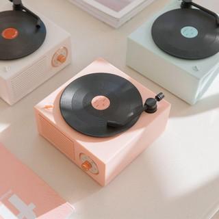 Loa đĩa than bluetooth vintage giả lập decor retro đẹp, âm thanh ấm và lớn