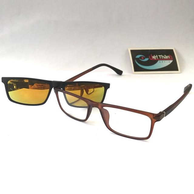 Kính đa năng - 2 trong 1 ( vừa kính cận vừa kính mát ) - phom nhỏ