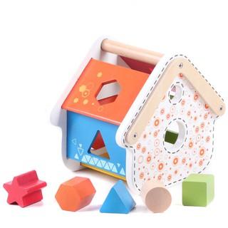 Nhà thả khối gỗ