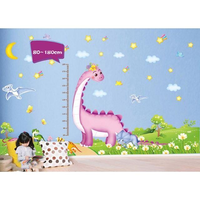 Decal dán tường đo chiều cao khủng long