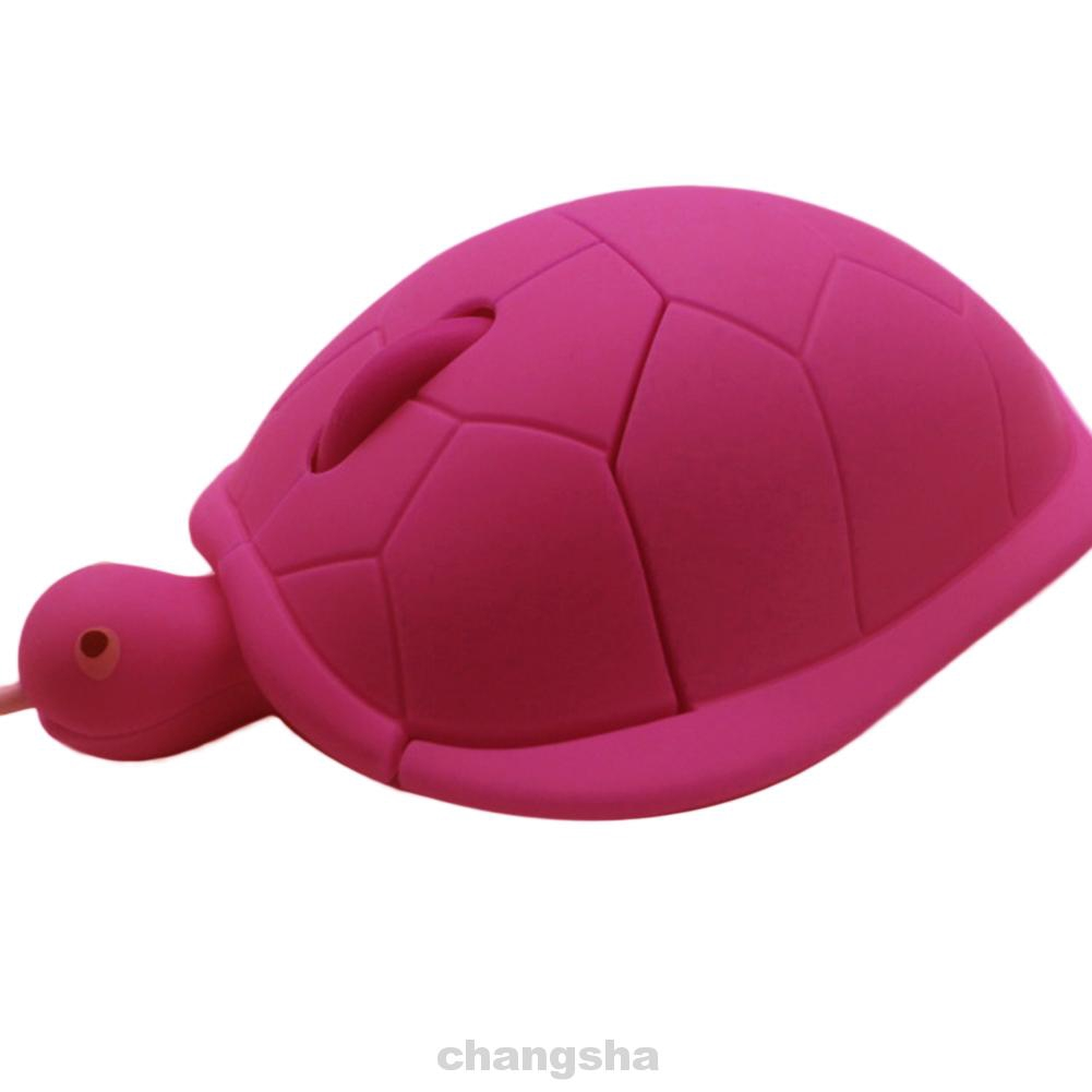 USB Port Home Office 3 Keys Computer Accessory Tortoise Shape Ergonomic Designed Wired Mouse