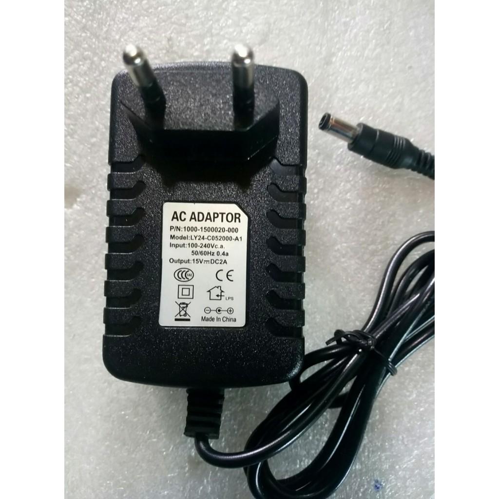 Adapter AC / DC; 15V – 2A Đầu lớn – Chuẩn 5.5mm (Dùng cho loa kéo nhỏ) Giá chỉ 168.000₫