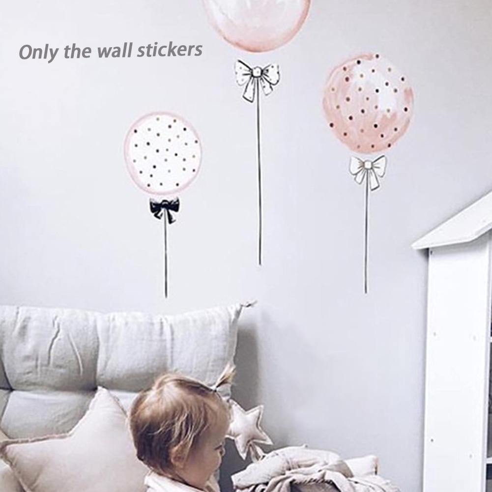 3pcs Wall Sticker Cartoon Kids Bedroom Cute Mural Decal Decoration Balloon Living Room PVC