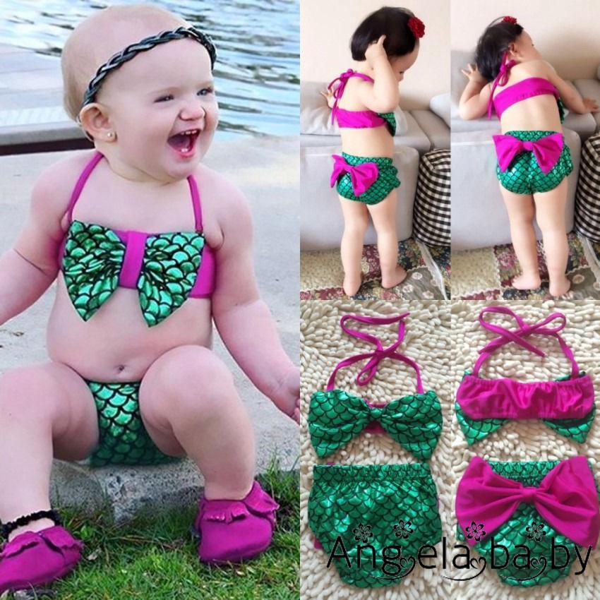 Bộ đồ bơi kiểu nàng tiên cá dễ thương cho bé gái