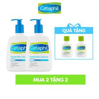 Hình ảnh [Tặng 2 chai Lotion 59ml/chai] Combo 2 sữa rửa mặt Cetaphil Gentle Skin Cleaner 500ml-0