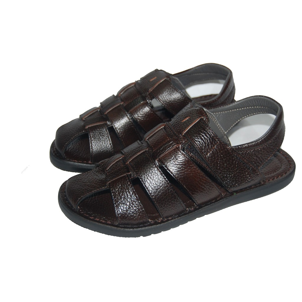 Sandal nam da bò thật. Bảo hành 12 tháng. MS: SD22