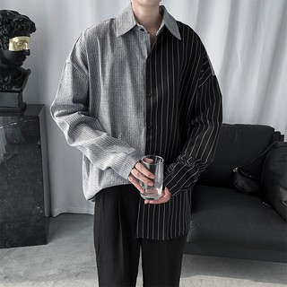 Sơ mi nam kẻ sọc style chuẩn hàn – chất cotton mềm mịn mát