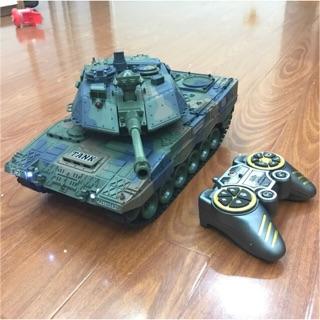 Đồ chơi xe tăng điều khiển bắn đạn nhựa Leopard 2