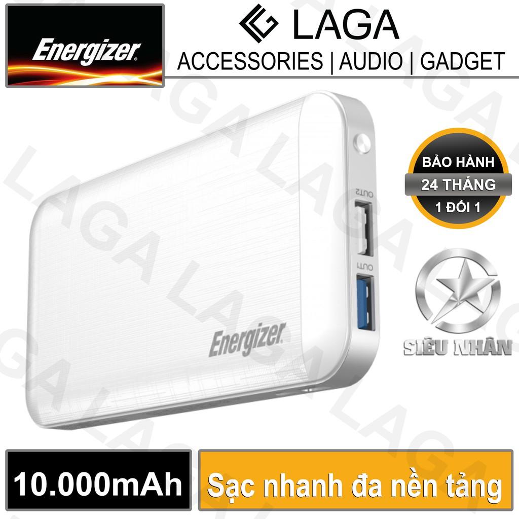 [Freeship toàn quốc từ 50k] Pin sạc dự phòng Energizer 10000mAh PD 3.0 Multi Protocol Fast Charge USB Type C - UE10030MP