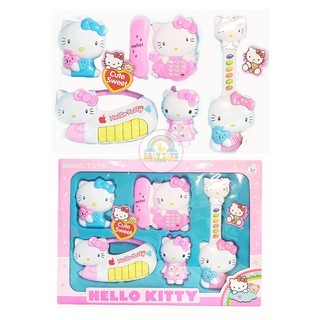 Bộ Đồ Chơi Nhạc Cụ Hello Kitty Nhạc Tiếng Anh (Hàng Chất Lượng Cao)