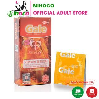 Bao cao su Gale trơn chứa dầu cao trải nghiệm siêu nóng bỏng 12 bao – MIHOCO