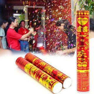 Dài 80cm Cây pháo hoa giấy cho tiếng nổ giòn giã góp phần làm thêm không khí lễ hội, sinh nhật, đám cưới N1220